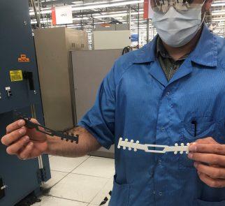 3D printed mask buckles